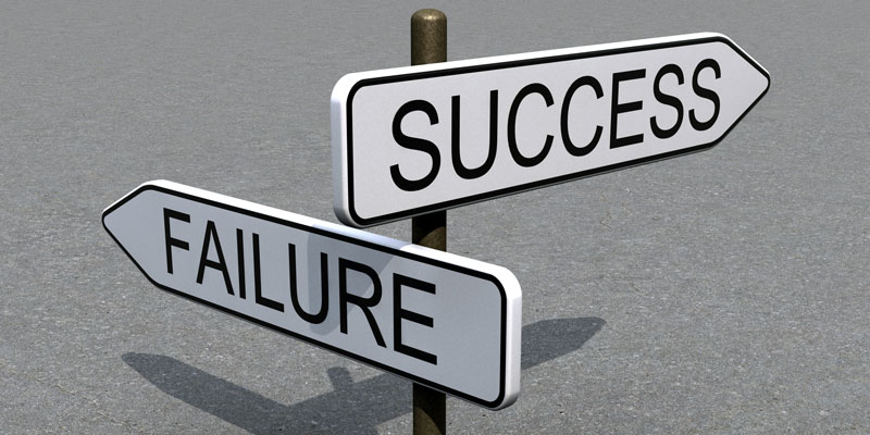 computer rendering of success and failure crossroads sign
