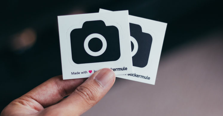 two cards with camera icon