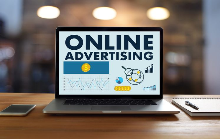 online advertising practices on laptop screen